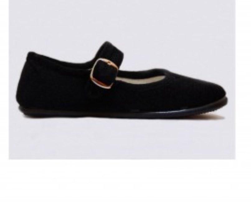 Zapatillas de baile regional en tercipelo negro