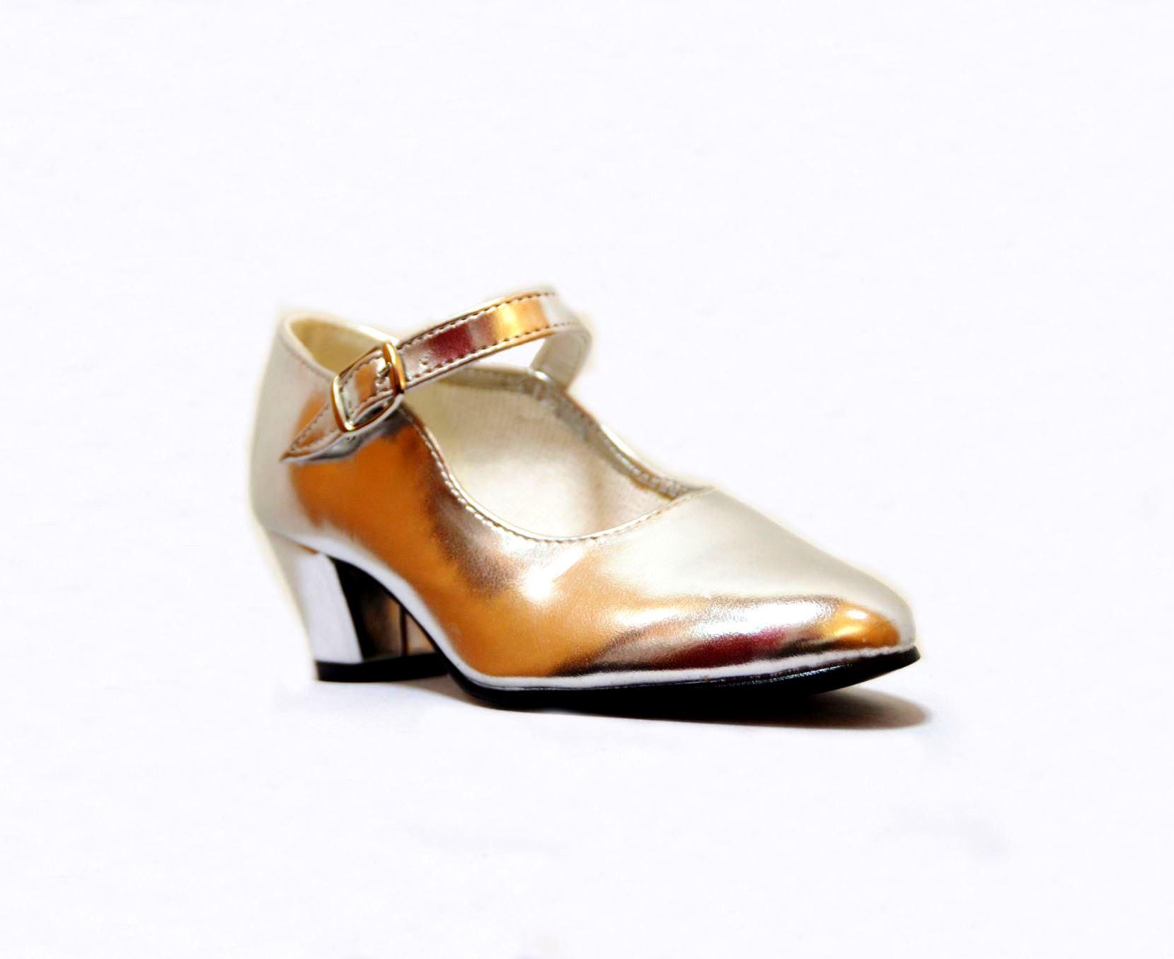 Zapato dorado economico