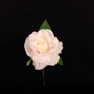 Flor flamenca en tela tamaño medio