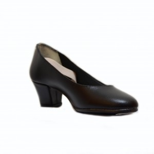 Zapato flamenco piel sin forrar amateur con chapa