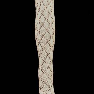 Panty regional blanco con diseño de rombos